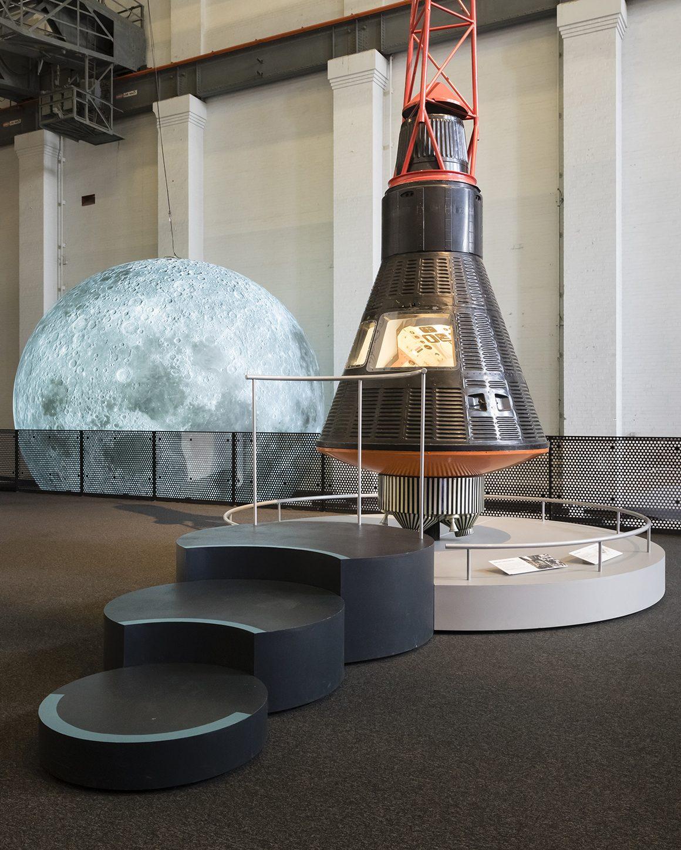 Apollo 11 exhibition views at the Powerhouse Museum.